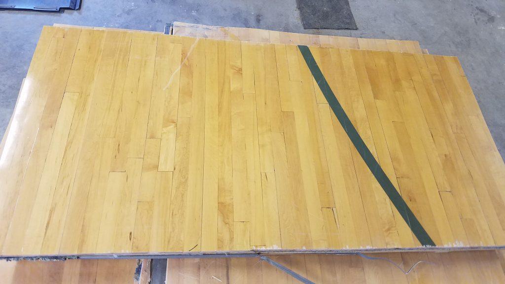 reclaimed gym floor panel