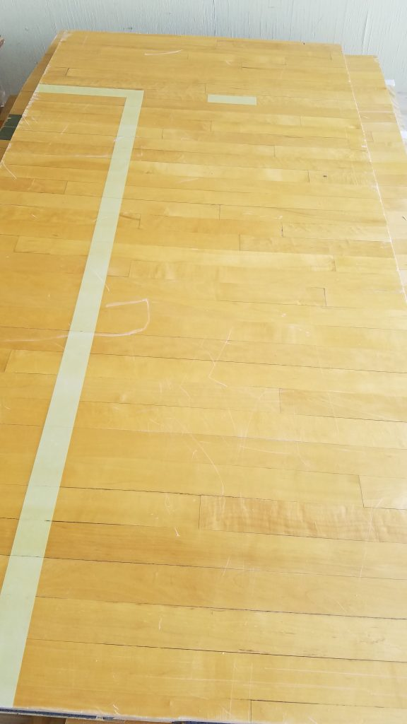 reclaimed gym flooring panels