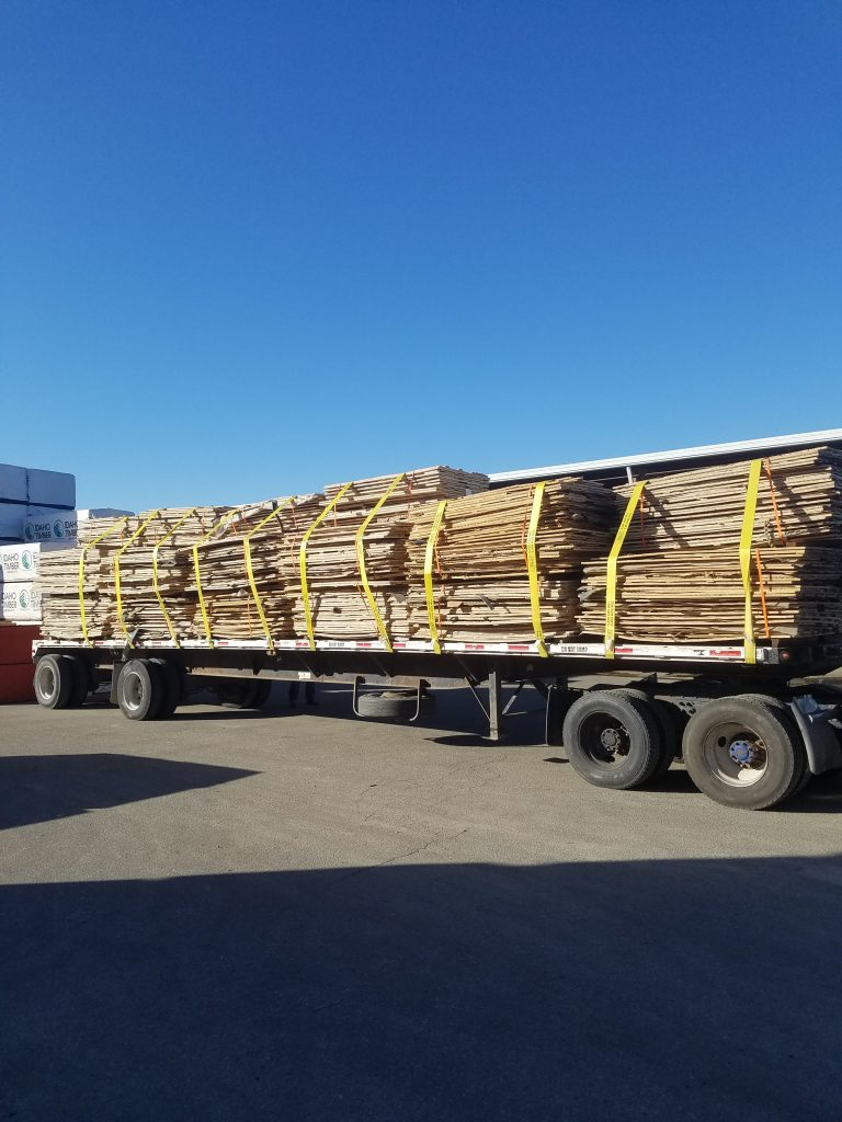reclaimed gym flooring panel load