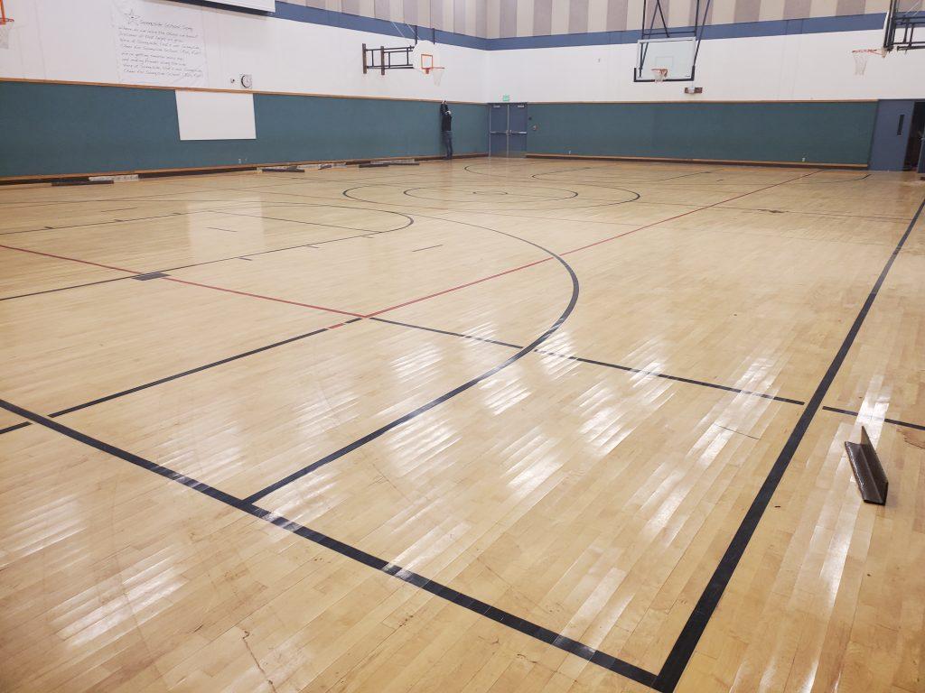 gym floor salvage