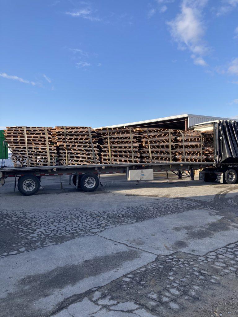 Full Truck of maple gym floor