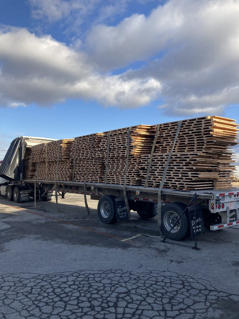Truckload of reclaimed basketball court