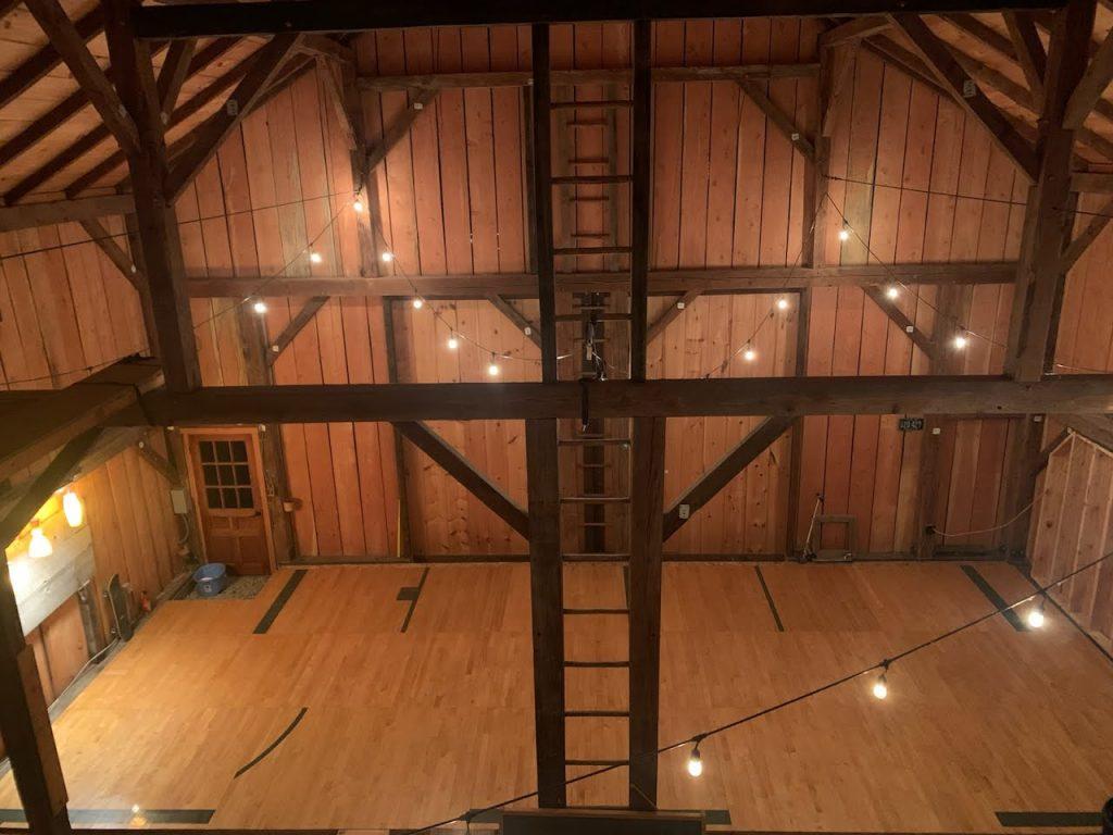 reclaimed barn basketball court